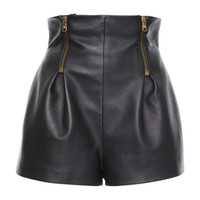 Leather High Waisted Mini Shorts | Moda Operandi