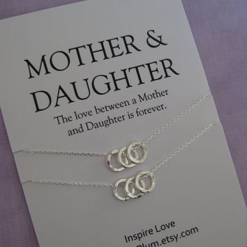 50th Birthday Gift Mother Daughter Jewelry Mom DAUGHTER Mommy Necklace Moms