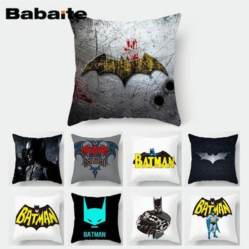 Batman Dark Knight gift Christmas Babaite Batman Comic Customized Throw Pillowcase Cover 2 Sides Prints Wedding Gifts AT_71_6