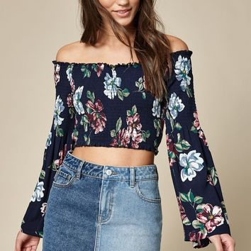 LA Hearts Smocked Bell Sleeve Top at PacSun.com