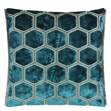 Designers Guild Manipur Azure Decorative Pillow
