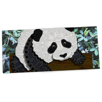 "Art Love Passion ""Panda"" Black White Desk Mat"