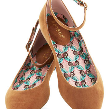 ModCloth Pleasant Approach Flat in Camel