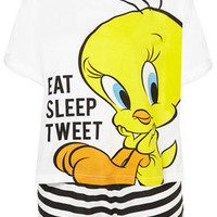 Tweety Eat Sleep Tweet Pj Set - Lingerie & Nightwear  - Clothing