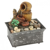 Tranquility Pottery Indoor Cordless Tabletop Water Fountain