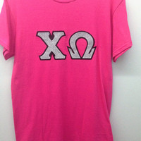 Chi Omega Sorority Small T Shirt with Greek Letters - Ready to Ship!