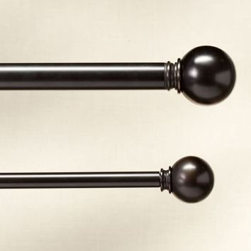PB STANDARD BALL FINIAL & DRAPE ROD - ANTIQUE BRONZE FINISH