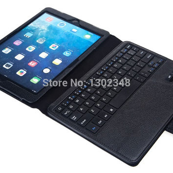 Russian & Special Letter 2 in1 Removable Wireless Bluetooth Keyboard & Leather Stand Cover Case For Apple ipad air 2 ipad 6 air2