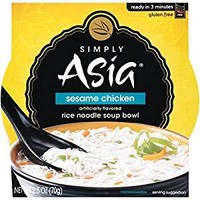 Simply Asia Sesame Chicken Rice Noodle Soup Bowl - Case Of 6 - 2.5 Oz.