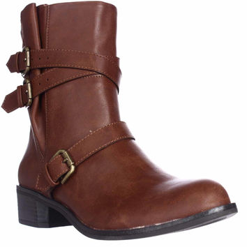Style & Co. Baxten Casual Ankle Boots - Chestnut