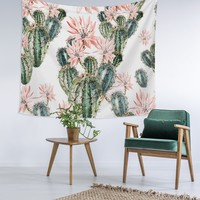 Cactus Blush Love Wall Tapestry