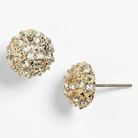 Junior Women's Rachel Rhinestone Dome Stud Earrings