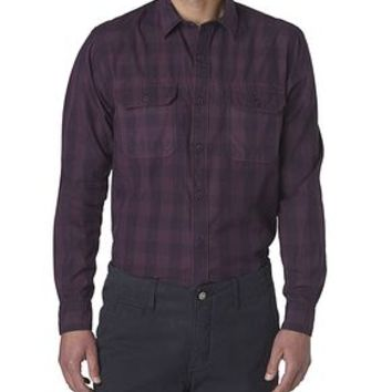 Dockers Wellthread Anchor Poplin Shirt - Purple,Tan Perfect - Men's