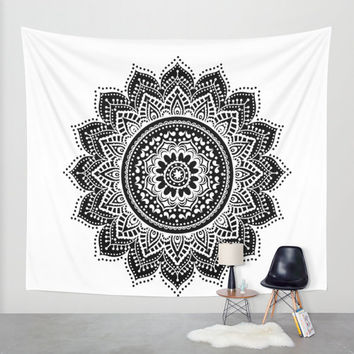 mandala wall tapestry,mandalas wall tapestry,black and white mandala,black and white mandala wall decor,mandala wall art,mandala wall decor
