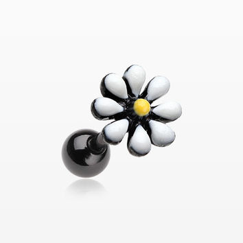 Blackline Spring Blossom Flower Cartilage Tragus Earring