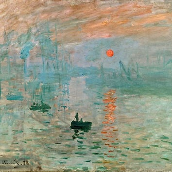 'Claude Monet - Impression Sunrise ' Poster by bestartists