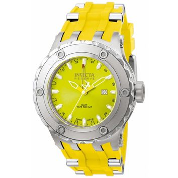 Invicta 1393 Men's Reserve Specialty Subaqua Yellow Dial GMT Yellow Rubber Strap Dive Watch