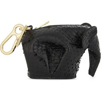 LOEWE - Elephant snake-embossed leather coin purse | Selfridges.com