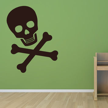 Most Popular Cross Bones And Skull Wall Sticker Boys Bedroom Home Decorative Removable Vinyl Wall Decal