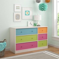 Cosco Applegate Storage Chest with 6 Fabric Bins, Enchanted Pine - Walmart.com