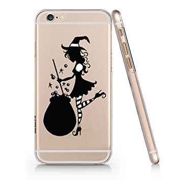 Cute Witch Slim Transparent Plastic Phone Case for iphone 6 _ SUPERTRAMPshop (iphone 6)