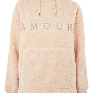 'Amour' Slogan Hoodie by Tee & Cake