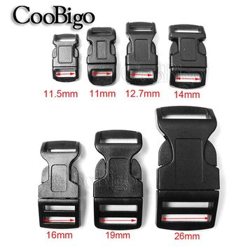 "10pcs 3/8"" 1/2"" 5/8"" 3/4"" 1"" Side Release Buckle Curved Plastic Hardware Outdoor Dog Collar Paracord Bracelet Backpack Bag Parts"
