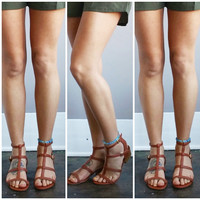 A Lady Boho Sandal in Chestnut
