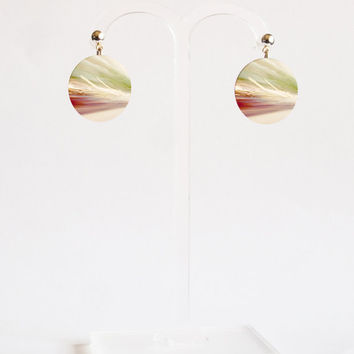 Abstract Earrings - FREE shipping to USA stud dangle earrings sublimation art earring stud dangle earrings hipster jewelry flat earring