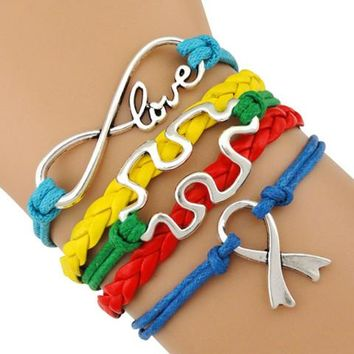 Autism Awareness Multicolor Bracelet