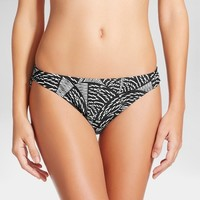 Women's Hipster Bikini Bottom - Black/White Tribal Print - Mossimo™