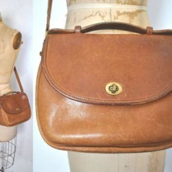 DCK7YE Vintage Coach Bag / brown leather purse