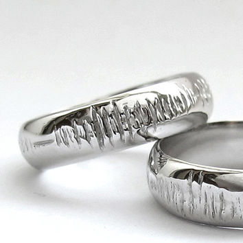 Sounds of Love - Personalized Sound Wave Ring - Nerd Music Ring - Geek - Geekery - Geek Chic - Hand Engraved - Rickson Jewellery