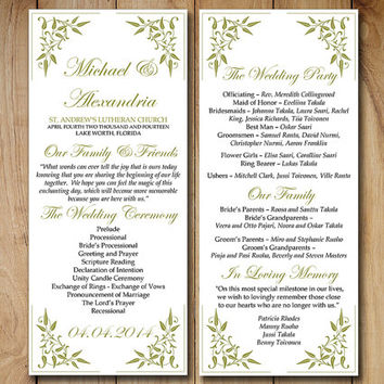 wedding ceremony order of service template free - best wedding ceremony program templates products on wanelo