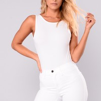 Back Again Bodysuit - White