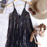 free people - here she is embellisehd mini dress - black
