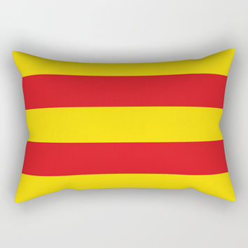 senyera catalunya-catalunya,cataluna,catalonha,espanya,iberica,Barcelona Rectangular Pillow by oldking