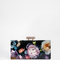 Ted Baker Shadow Flora Printed Leather Matinee Purse