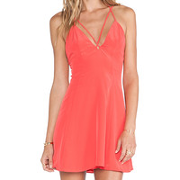NBD Crave Fit & Flare Dress in Coral
