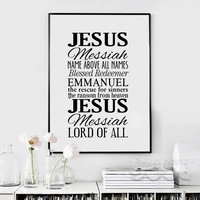 Jesus Quote Canvas Art Print Painting Poster, Wall Pictures For Home Decoration,  Housing 096