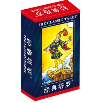 "2 Kinds Option ""Classic Tarot"" Board Game 78 PCS Set Boxed Playing Card Tarot Board Game For Family Friends With Free Shipping"