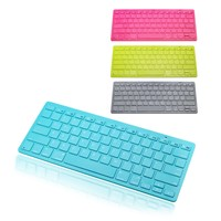 Hype Ultra-Slim Bluetooth Wireless Keyboard for Apple iPhone 6 Plus 5s iPad 4 Mini, Samsung Galaxy s5, Android Tablets - Pink