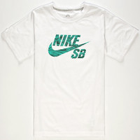 Nike Sb Woodgrain Boys T-Shirt White  In Sizes