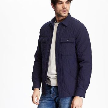 Old Navy Quilted Shirt Jacket