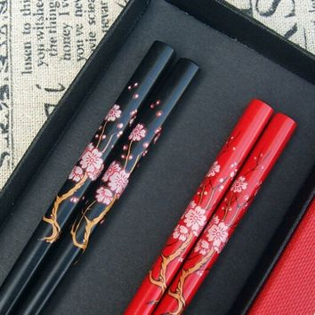 Nwt Chopstick Reusable Wooden Bamboo Chinese Japanese chop hair stick stir fry party NAvvyF34