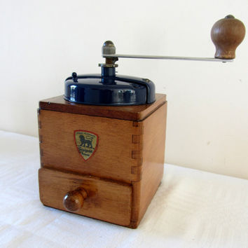 Vintage French Peugeot Freres Coffee Grinder/Mill Home Decor