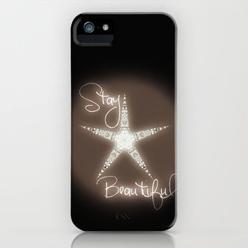 STAY BEAUTIFUL - QUOTE TO Myself STAR Monika Strigel  *** case for iPhone 5 + 4 + 4S + 3GS + 3G Make yourself a gift or for your BFF - Xmas
