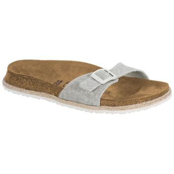 Sale Birkenstock Madrid Textile Beach Light Gray 1004245 Sandals