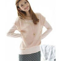 Women Autumn New Style Korean Splicing Fake Three-pieces Long Sleeve Pink Cotton Dress S/M/L @WH0403p $18.89 only in eFexcity.com.