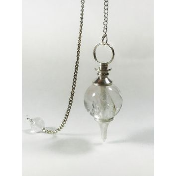 Pendulum Sphere Clear Quartz